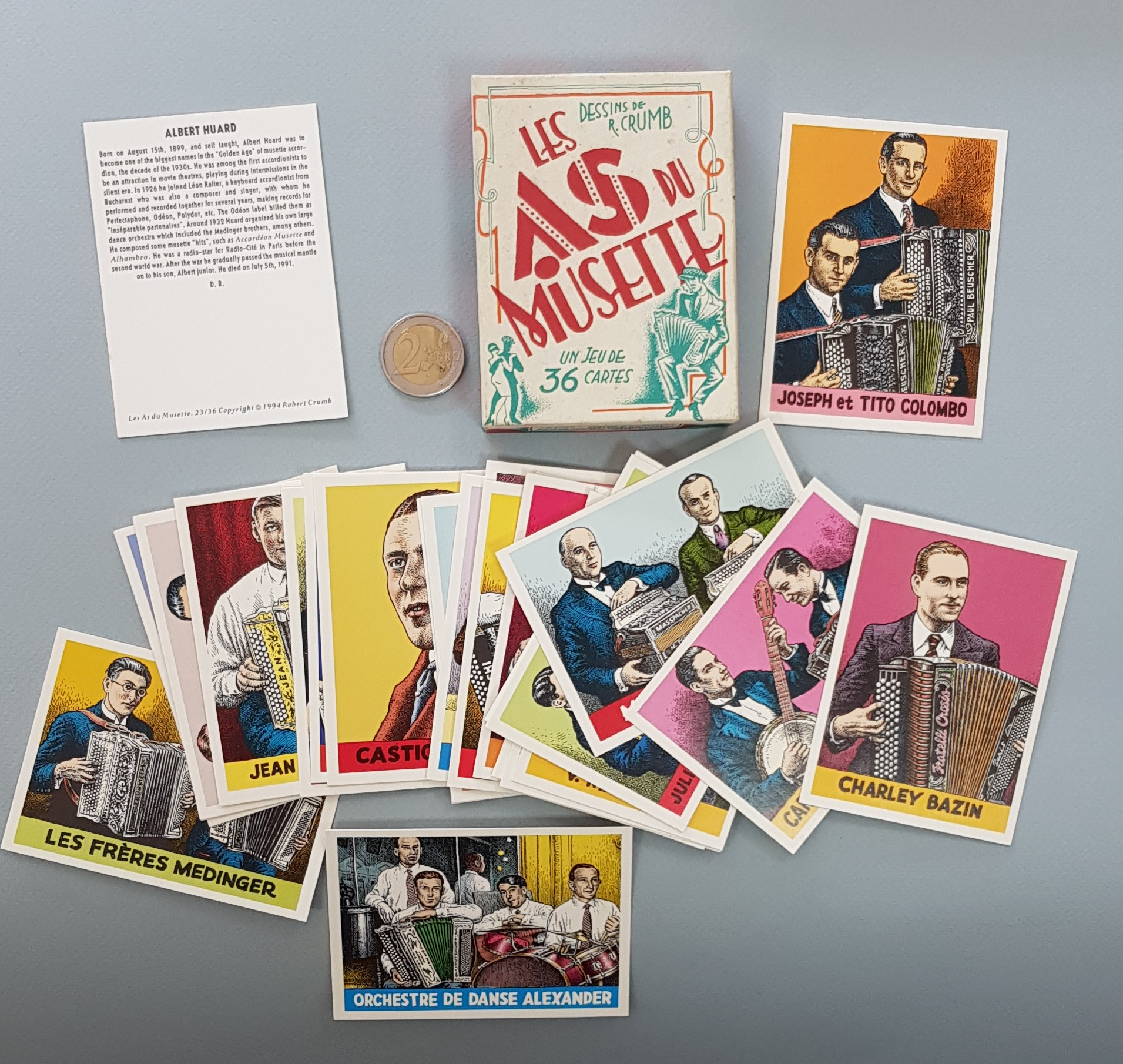 LES AS DU MUSETTE – ACCORDION PLAYERS Trading-cards Box