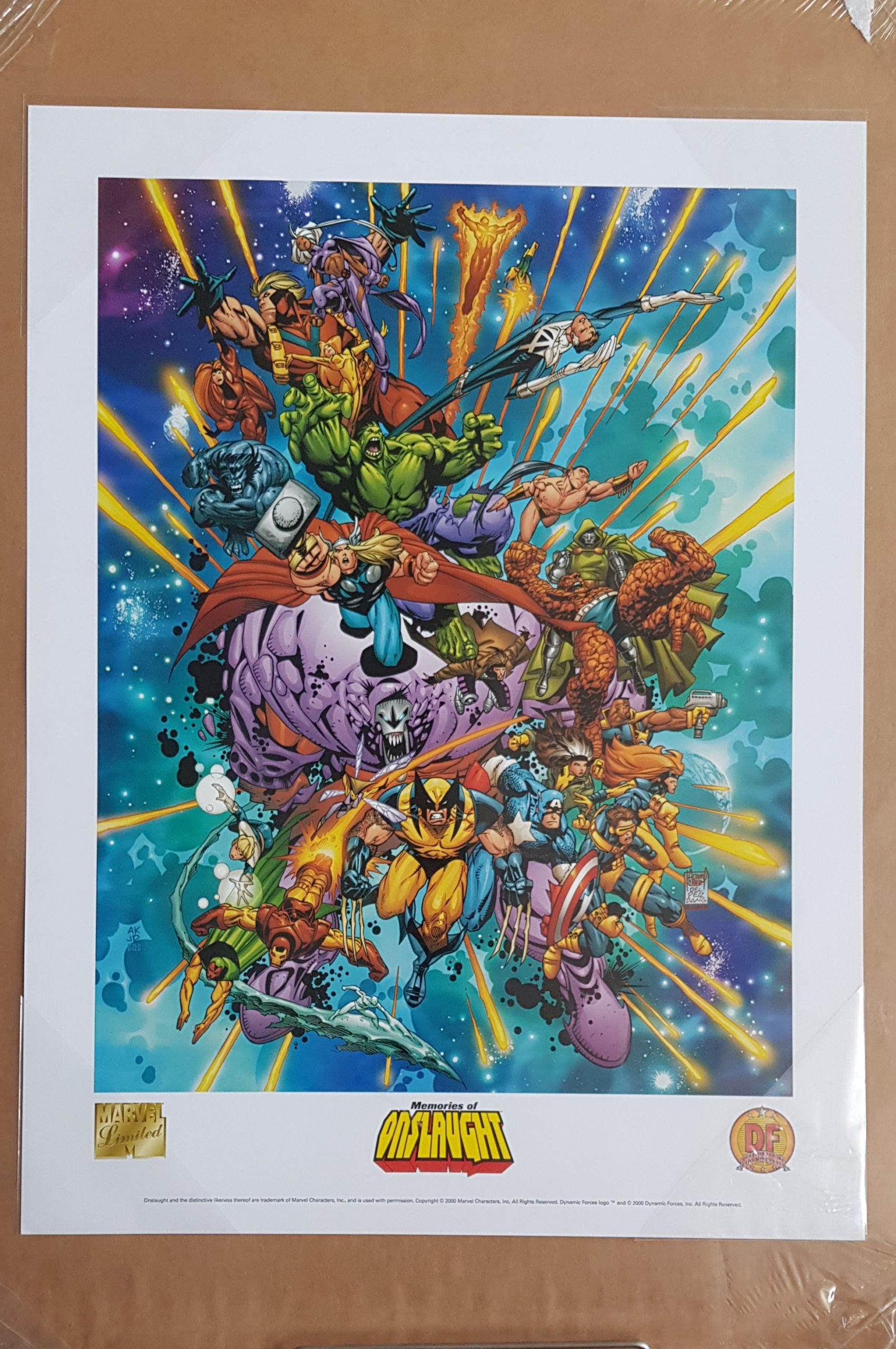 DFE MARVEL MEMORIES OF ONSLAUGHT LITHO