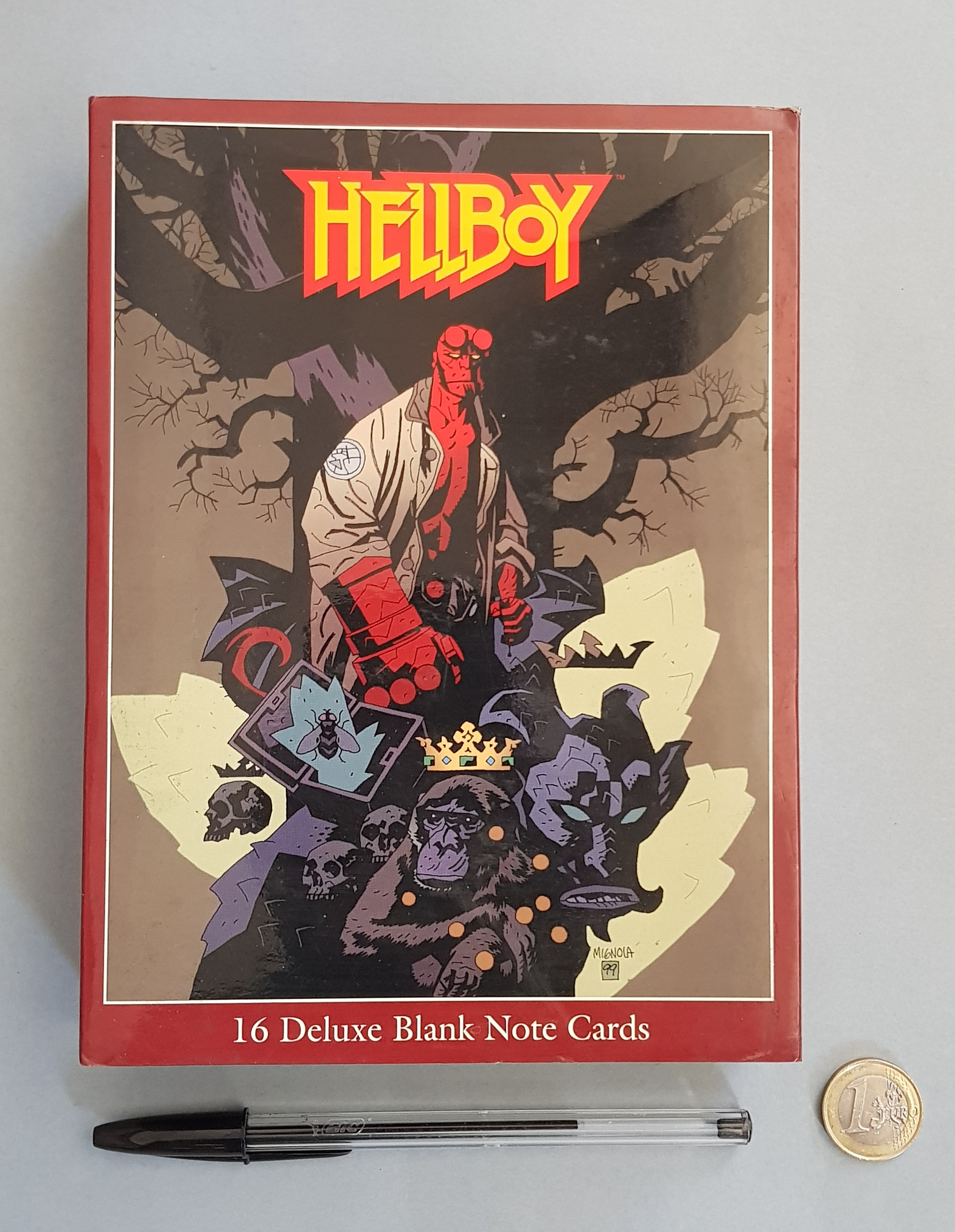 HELLBOY DELUXE BLANK CARDS – Postais com envelope