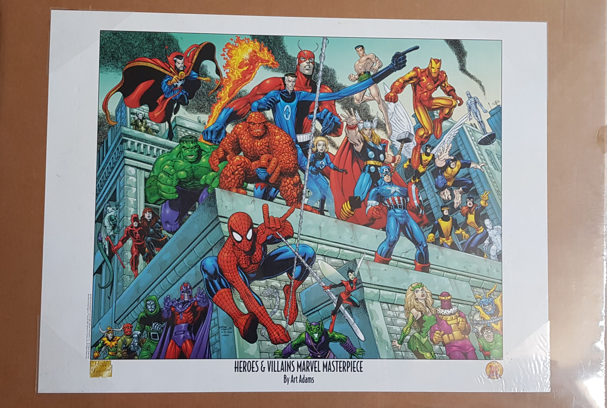 HEROES & VILLAINS MARVEL MASTERPIECE! POSTER