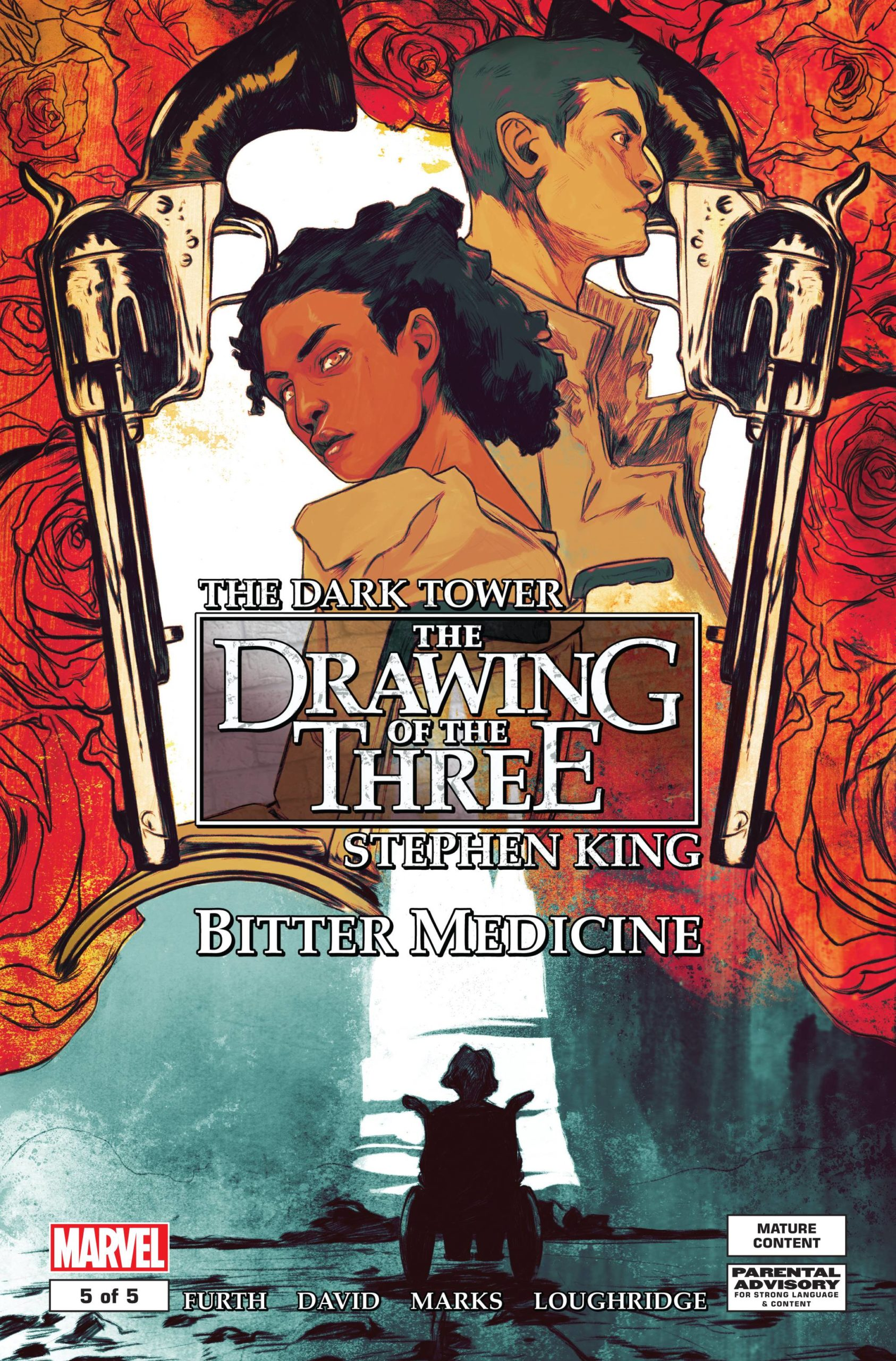 DARK TOWER DRAWING OF THREE BITTER MEDICINE  (MS 5)