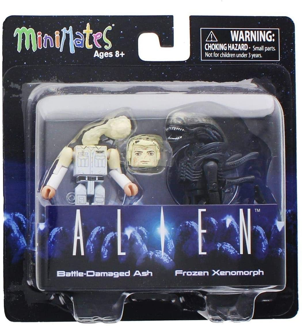 ALIENS MINIMATES SERIES 3 ASST BATTLE DAMAGED ASH/FROZEN XENOMORPH
