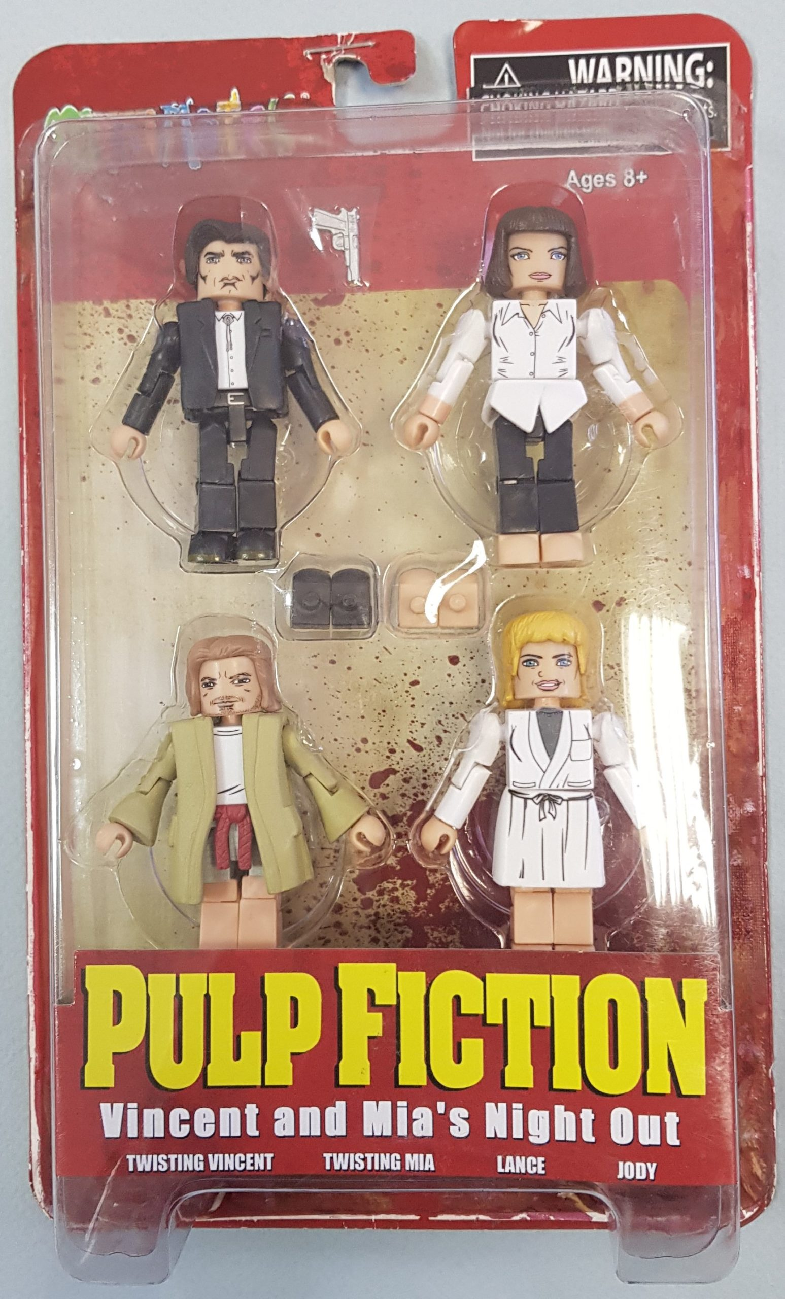 PULP FICTION 20TH ANN MINIMATES JACKRABBIT BOX SET (CAIXA DAMAGED)