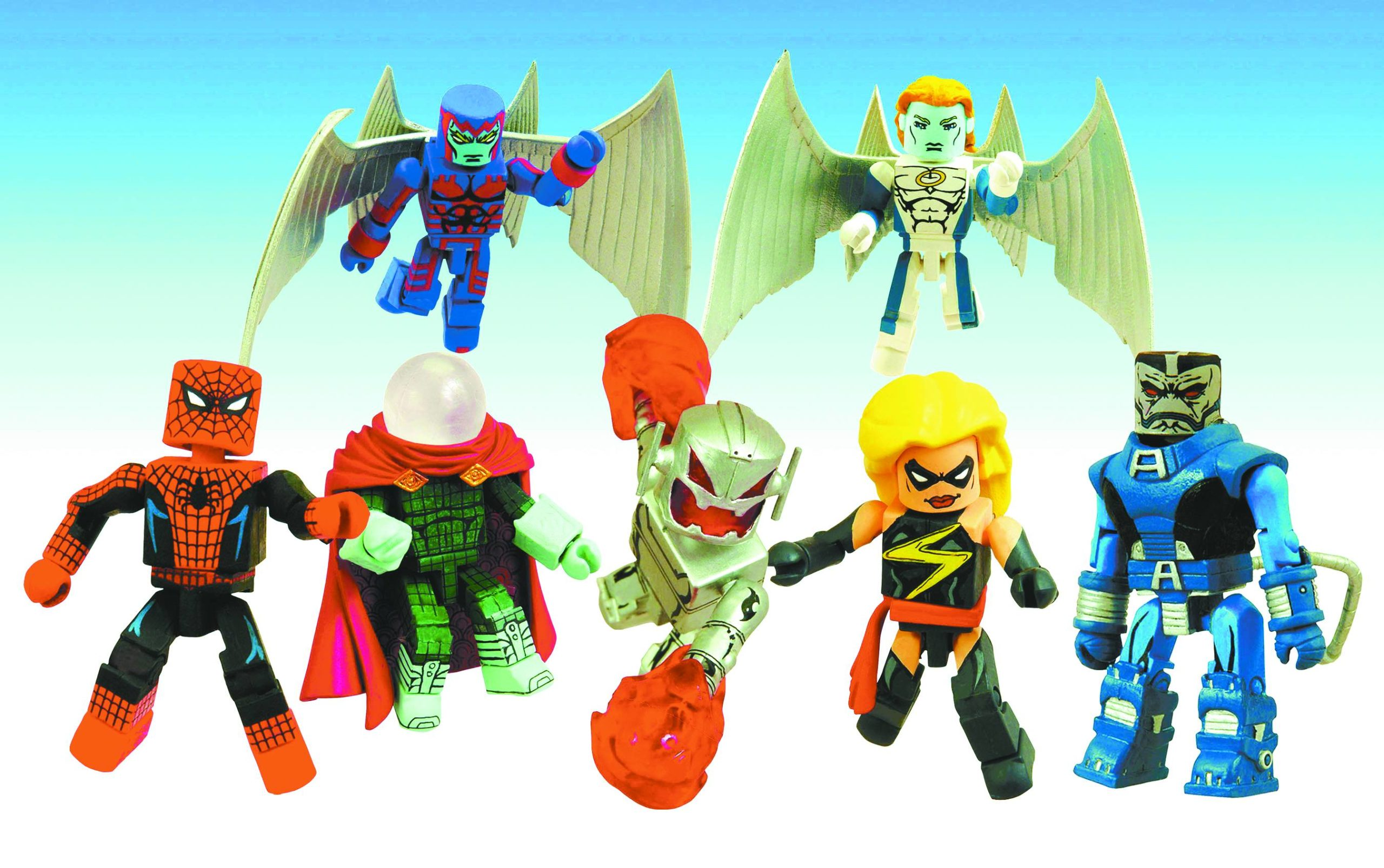 MARVEL MINIMATES 2-PK SER 19 ASST MS. MARVEL & ULTRON