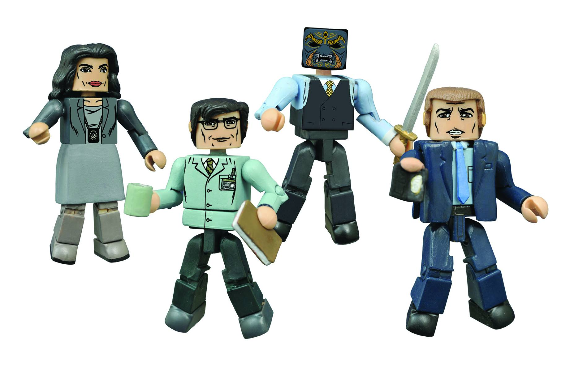 GOTHAM MINIMATES BOX SET (CAIXA DAMAGE)