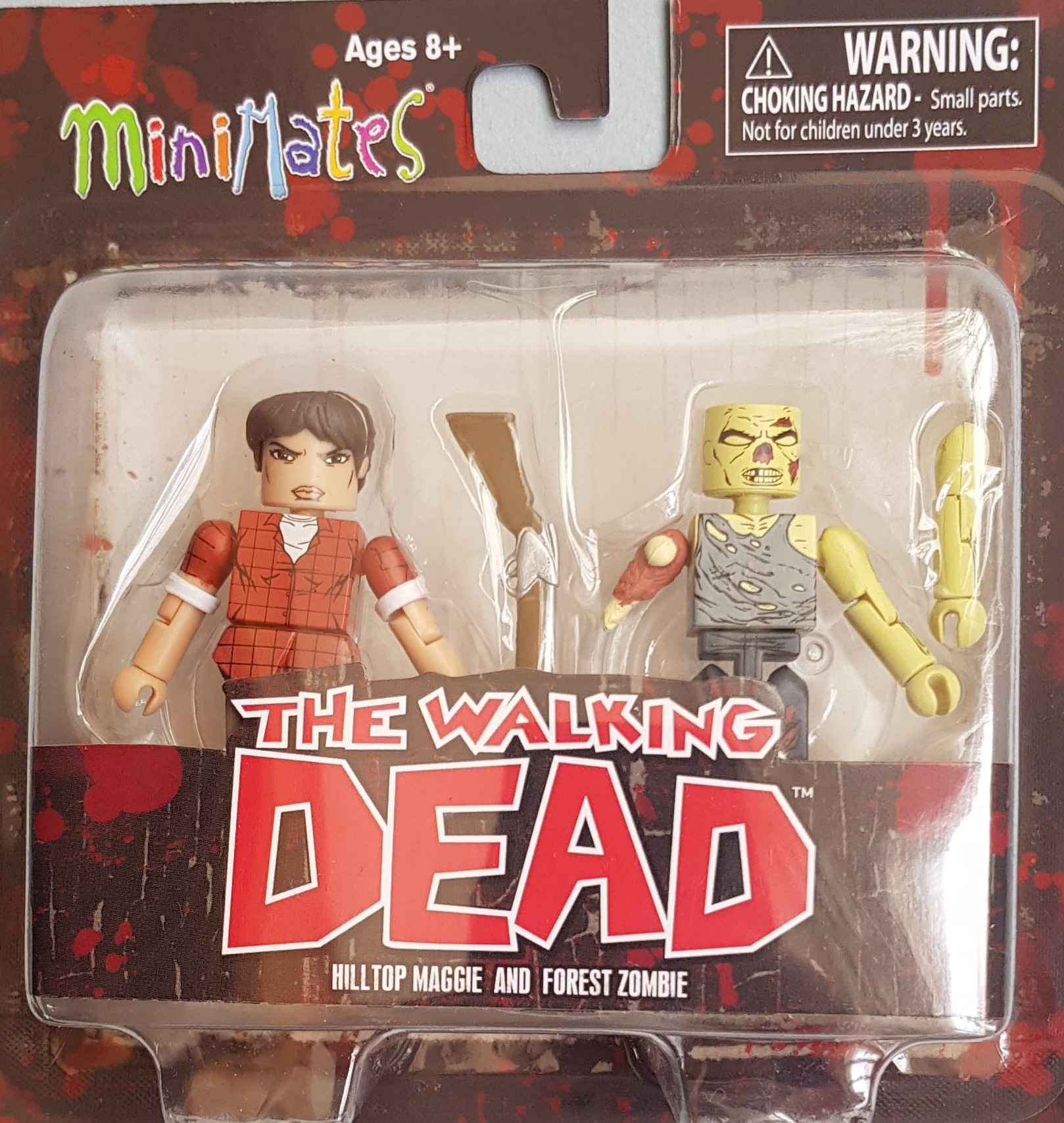 WALKING DEAD MINIMATES SERIES 8 ASST HILLTOP MAGGIE/FOREST ZOMBIE (CAIXA DAMAGED)