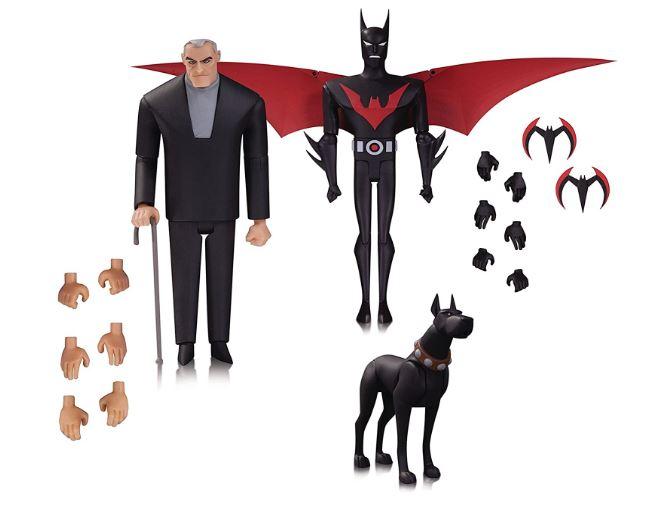 DC Collectibles BATMAN BEYOND: BATMAN, BRUCE WAYNE & ACE ACTION FIGURES