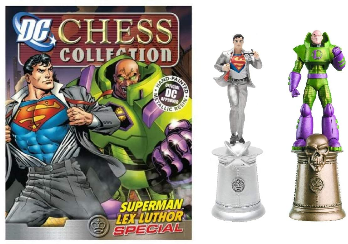 DC CHESS FIG COLL MAG SPECIAL CLARK KENT & LEX LUTHOR