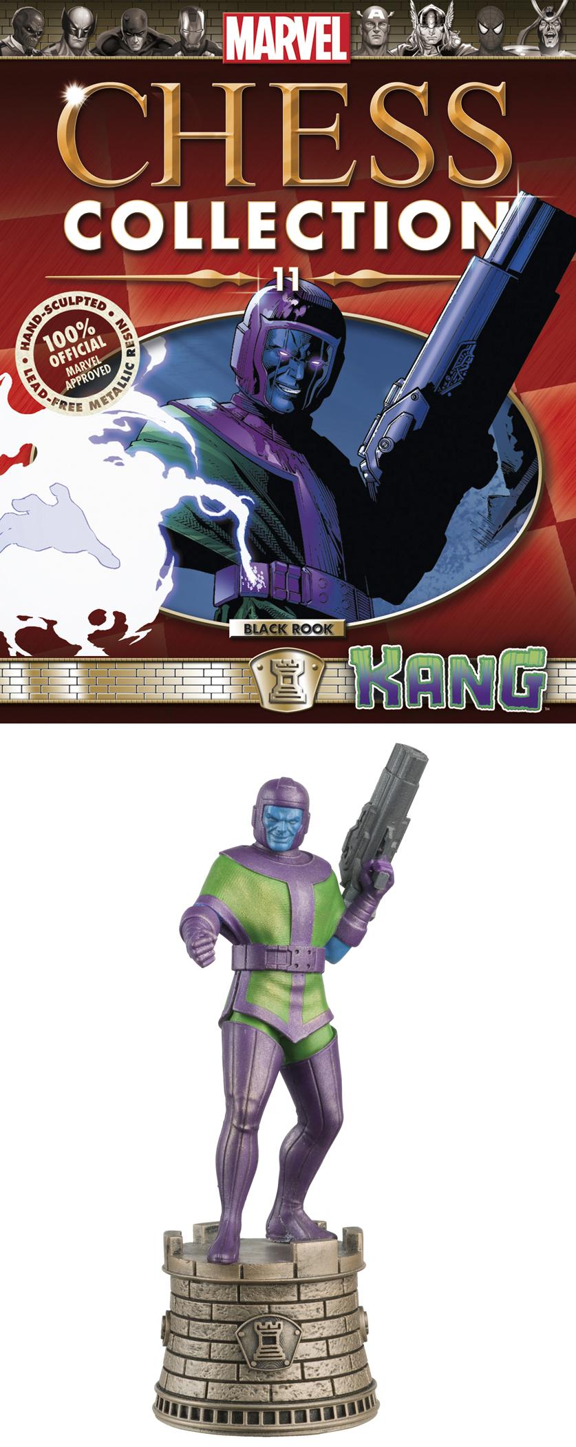 MARVEL CHESS FIG COLL MAG #11 KANG BLACK ROOK