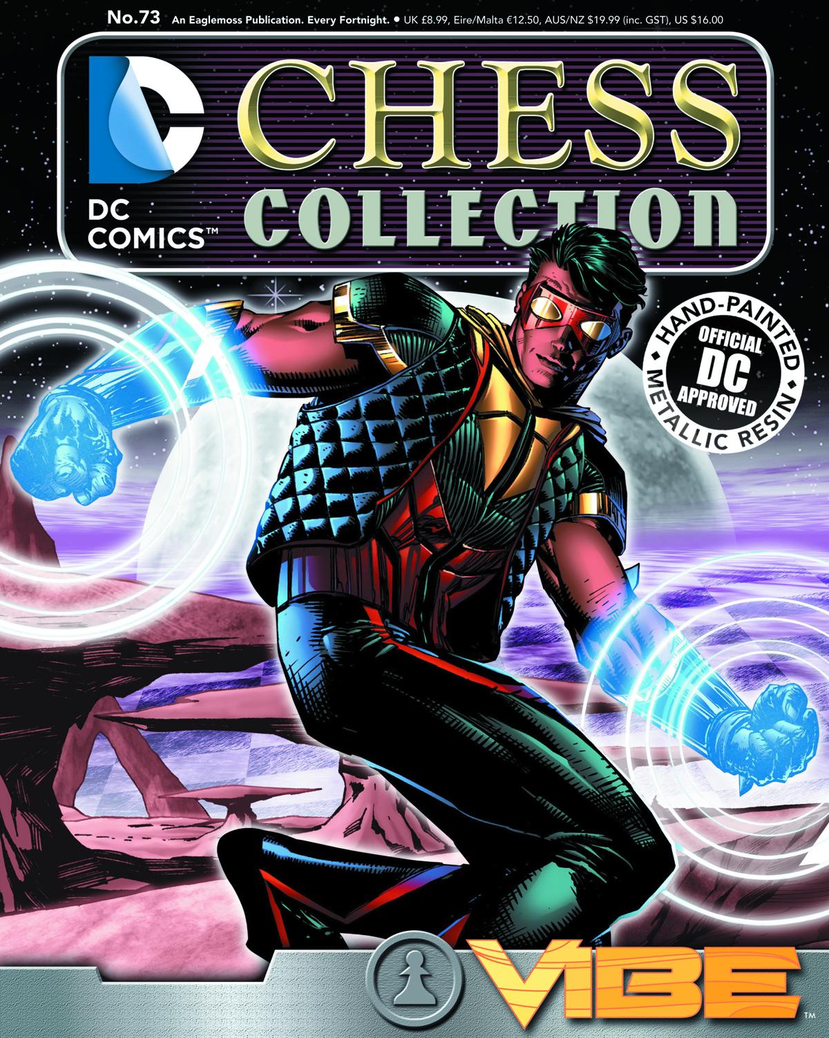 DC SUPERHERO CHESS FIG COLL MAG #73 VIBE WHITE PAWN